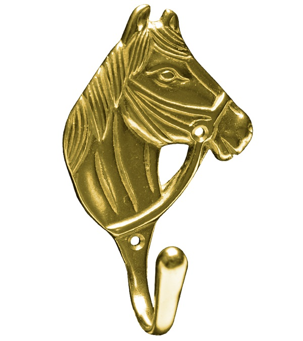 Solid Brass Horse Head Hook
