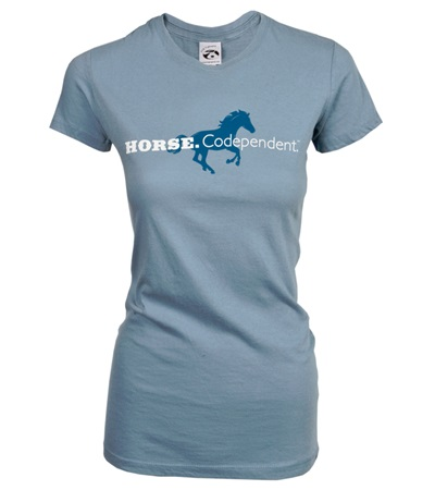 Horse.Codependent Tee Dusty Blue Junior Cut
