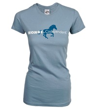 Horse.Codependent Tee Dusty Blue Junior Cut
