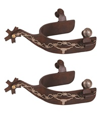 Brown Steel Spurs