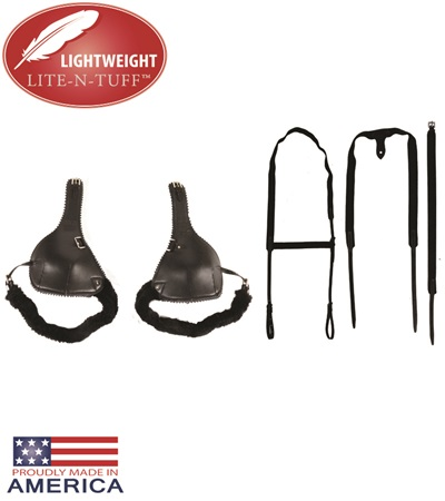 LITE-N-TUFF® Feather-Weight® Leather Elbow Boots with Suspenders