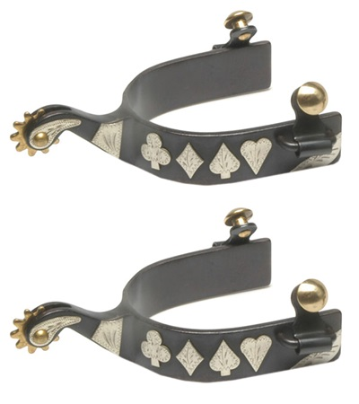 Black Steel Spurs