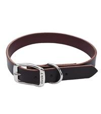 "Circle T® Latigo Leather Town Dog Collar Flat 1"""
