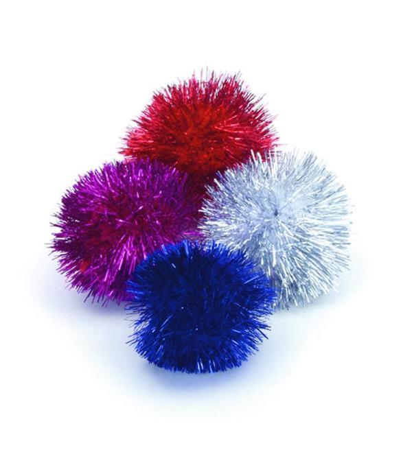 "Rascals® Glitter Pom Poms 1.5"""