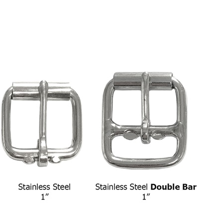 Buckle Stainless Steel with Tongue & Roller 1""