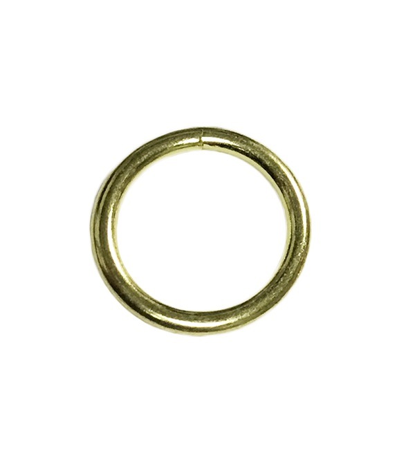 Steel Halter Ring Brass Plated