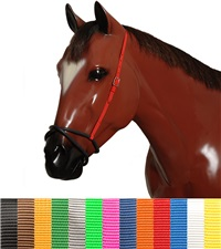 Rubber Figure 8 Noseband with Nylon Straps