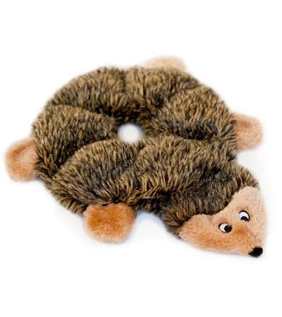 Zippy Paws Loopy Hedgehog Plush Dog Toy