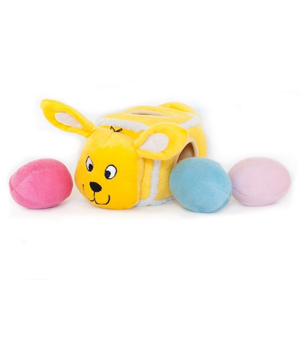 Zippy Paws Hide-An-Egg Burrow Plush Toy