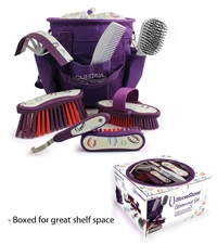 Desert Equestrian Equestria™ Sport Horseshoes™ Grooming Kit 8 piece Violet Purple