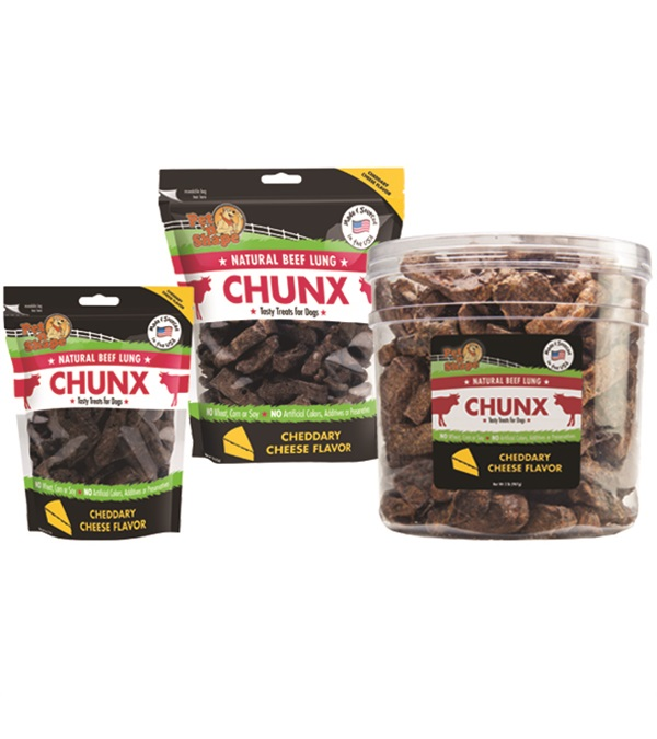 Pet 'n Shape® Beef Lung CHUNX Cheese All-Natural Dog Treats