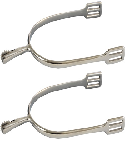 Stainless Steel Spurs with Stainless Steel Rowel