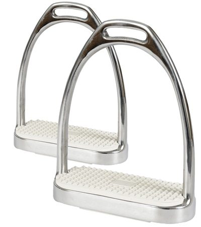 Stainless Steel Fillis Stirrups with White Pads