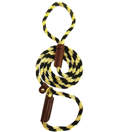"""Lone Wolf Solid (Round) 3/8"""" Braided Rope Lead with Slip"""