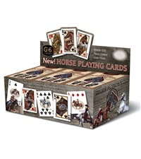 Horse Playing Cards Display w/12 decks