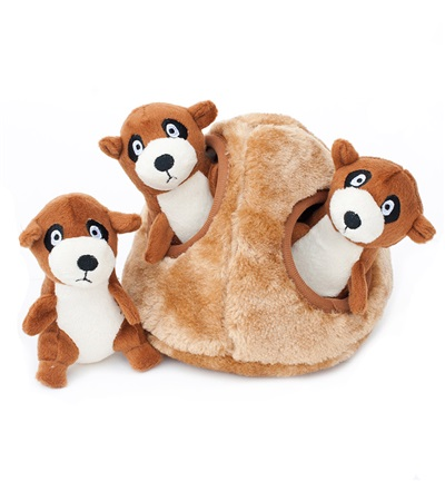 Zippy Burrow Meerkat Den Plush Dog Toy