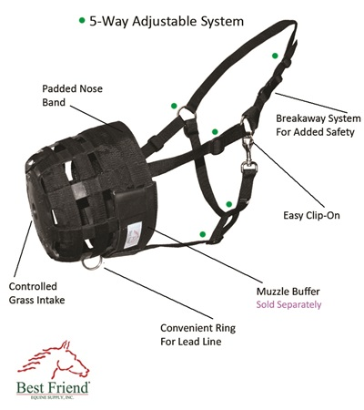 Best Friend® Deluxe Grazing Muzzle