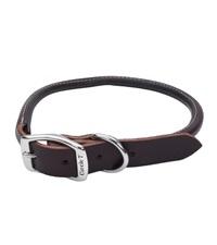 "Circle T® Latigo Leather Dog Collar Round 3/4"""