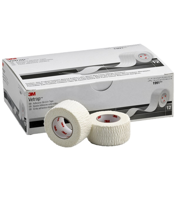 "3M™ Vetrap™ Adhesive Stretch Tape 1"" x 5 yds"