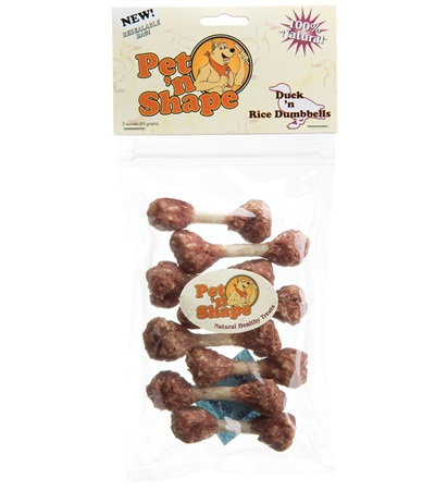 Pet 'n Shape® Duck 'n Rice Dumbbells All-Natural Dog Treats 3 oz.