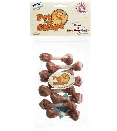 Pet 'n Shape® Duck 'n Rice Dumbbells All-Natural Dog Treats 3 oz.