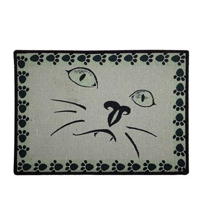 Indipets™ Cat Face Pet Place Mat