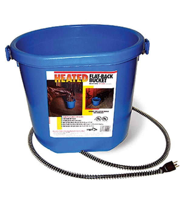 Heated Flat-Back Bucket