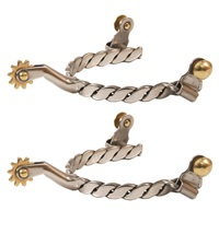 Twisted Band Stainless Steel Spurs