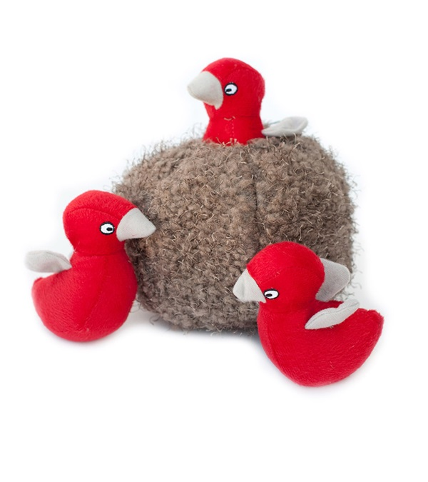 Zippy Burrow Bird Nest Plush Dog Toy