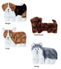 Zippy Paws Squeakie Pups Plush Dog Toy
