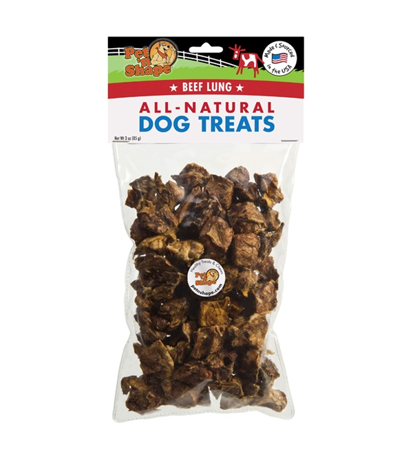 Pet 'n Shape® Beef Lung 3 oz. Bag All-Natural Dog Treats