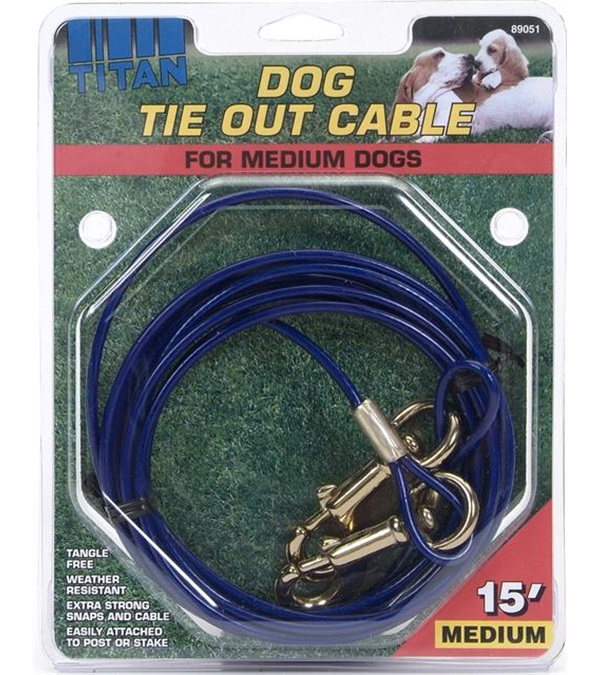 Titan® Tie Out Cable for Medium Dogs