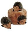 Zippy Burrow Hedgehog Den Plush Dog Toy