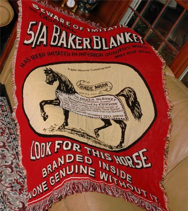 "5/A Baker® Logo Afghan 50"" x 70"""