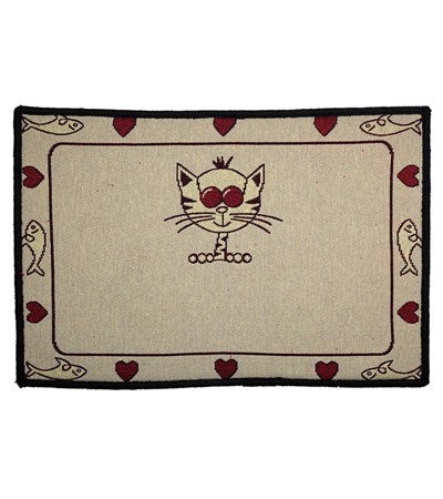 Indipets™ Animated Cat Pet Place Mat
