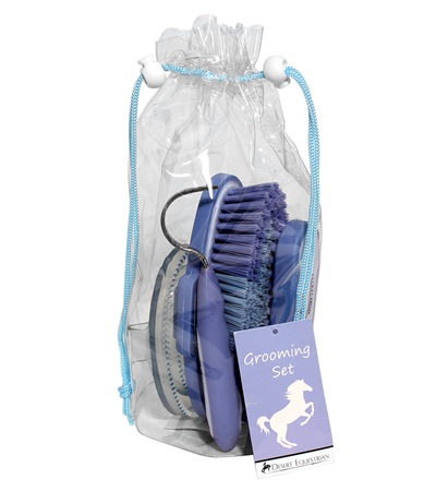 Equestria™ Sport Duffel Bag Grooming Set 4 piece Blue