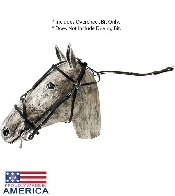 Feather-Weight® Euro Style Double Overcheck Bridle