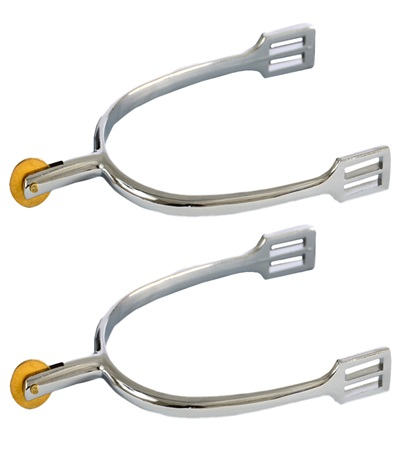 Zinc Die Cast Spurs with Brass Disc Rowel