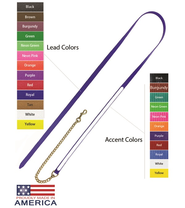 "Feather-Weight® Beta Two-Tone Lead Shank with 30"" Solid Brass Chain"