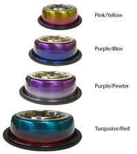Valhoma Non-Skid Multicolored Detachable Bowl