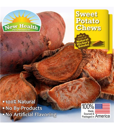 New Health Pet Products Sweet Potato Chews 4.5 oz.