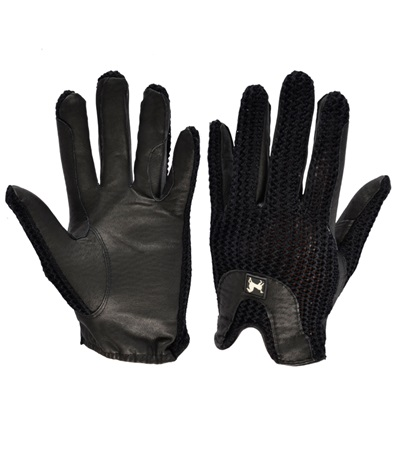 Horseshoe Back Crochet Gloves
