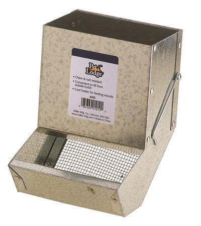 Pet Lodge™ Small Animal Feeder with Sifter Bottom with No Lid