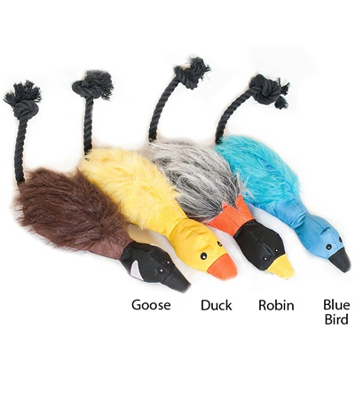 Zippy Paws Throw A Bird Plush Dog Toys