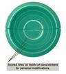 Double Knit Eye Injury Blinker Hood