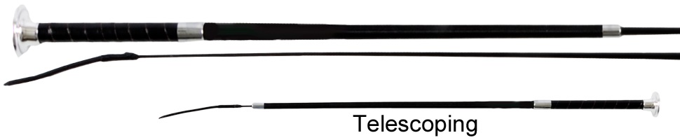 Dressage Whip with Telescoping Shaft